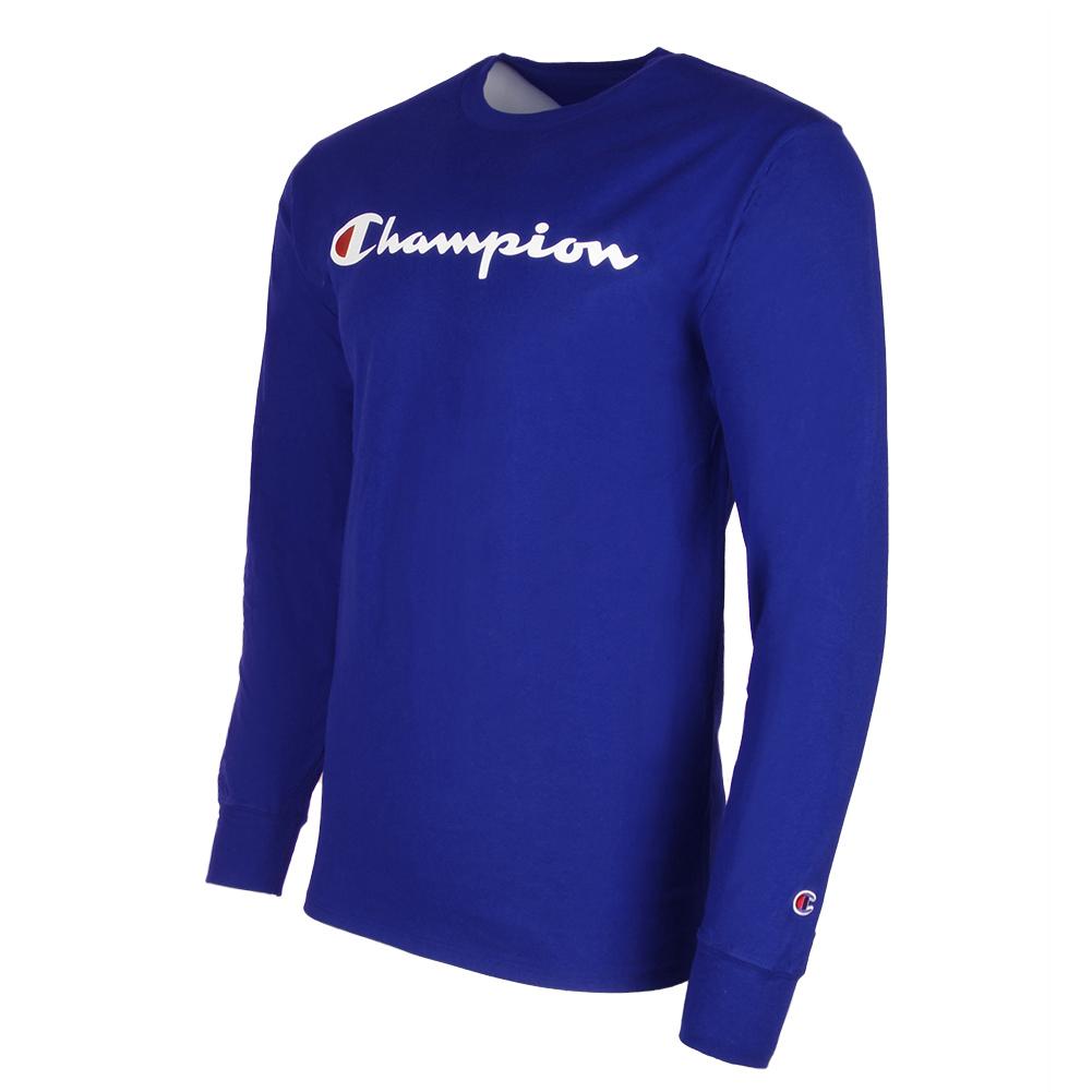 Champion-Men-039-S-Classic-Jersey-Script-Logo-Long-Sleeve-T-Shirt thumbnail 18