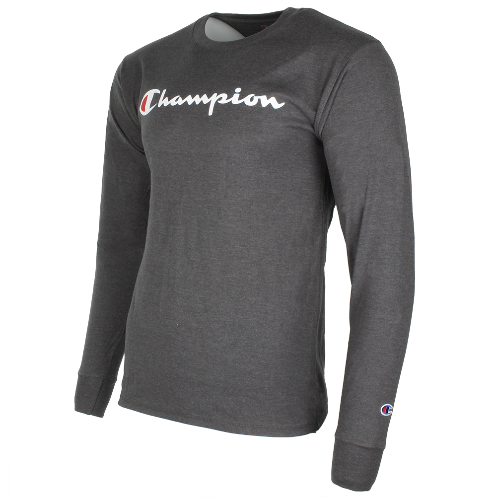 Champion-Men-039-S-Classic-Jersey-Script-Logo-Long-Sleeve-T-Shirt thumbnail 9