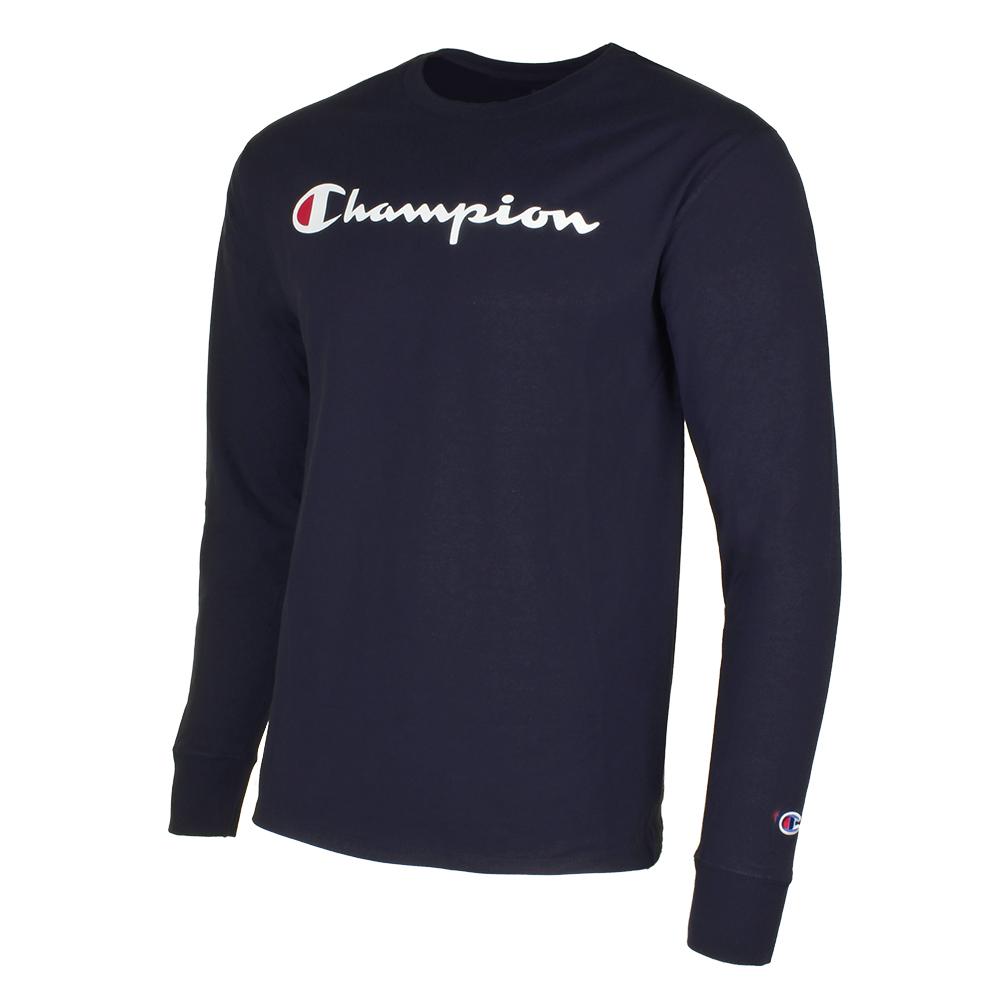 Champion-Men-039-S-Classic-Jersey-Script-Logo-Long-Sleeve-T-Shirt thumbnail 12