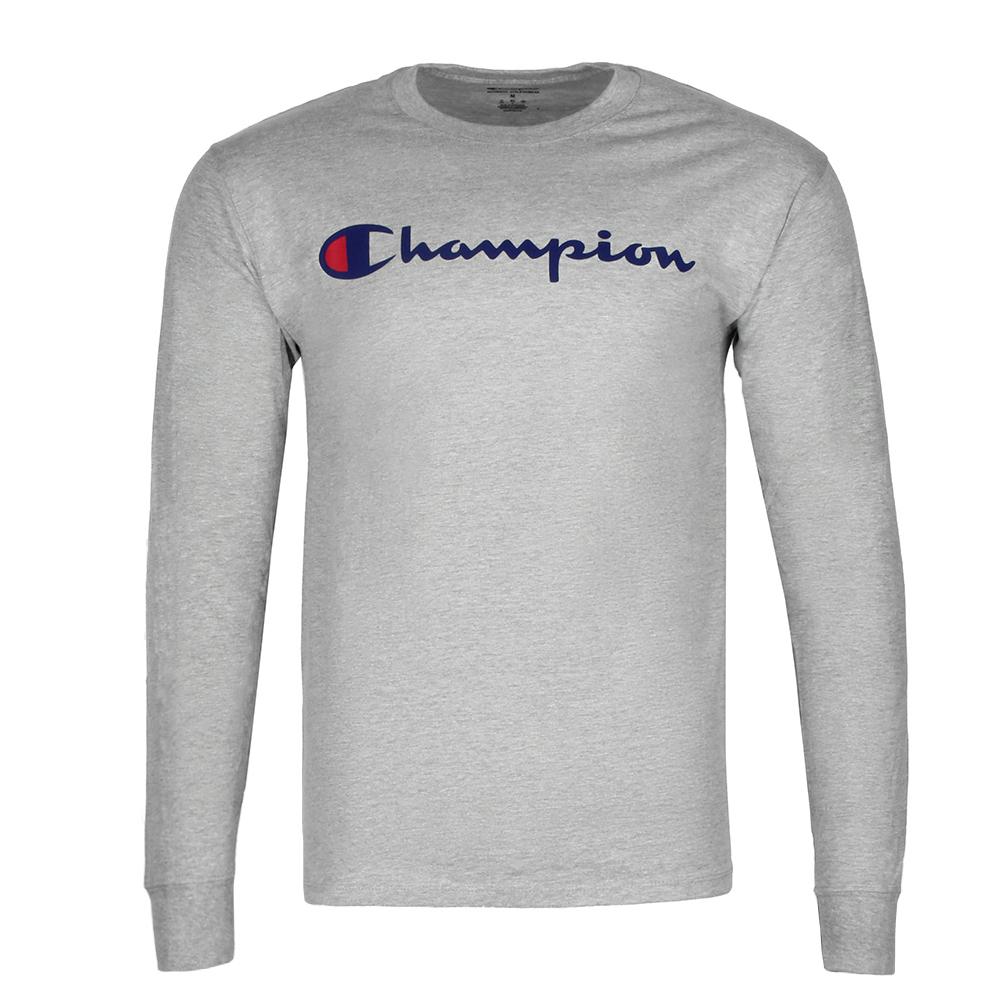 Champion-Men-039-S-Classic-Jersey-Script-Logo-Long-Sleeve-T-Shirt thumbnail 15