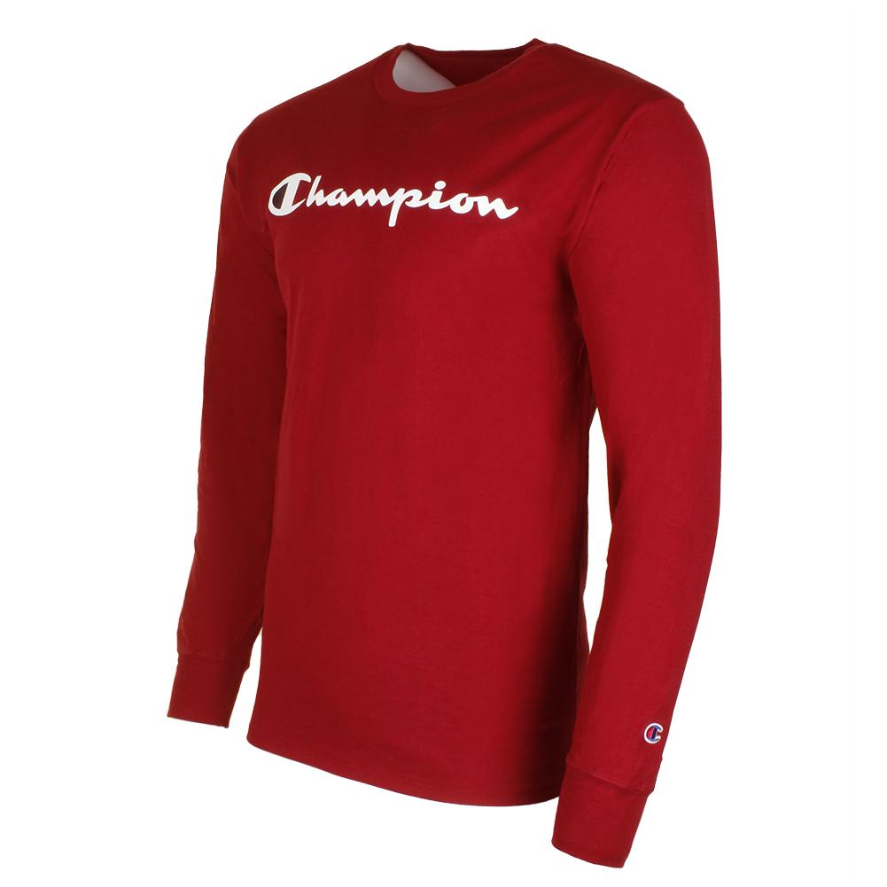 Champion-Men-039-S-Classic-Jersey-Script-Logo-Long-Sleeve-T-Shirt thumbnail 6
