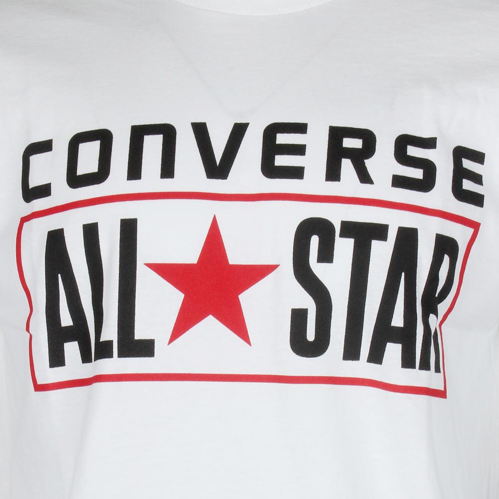 Converse-Men-039-Short-Sleeve-All-Star-printed-Cotton-T-Shirt thumbnail 10