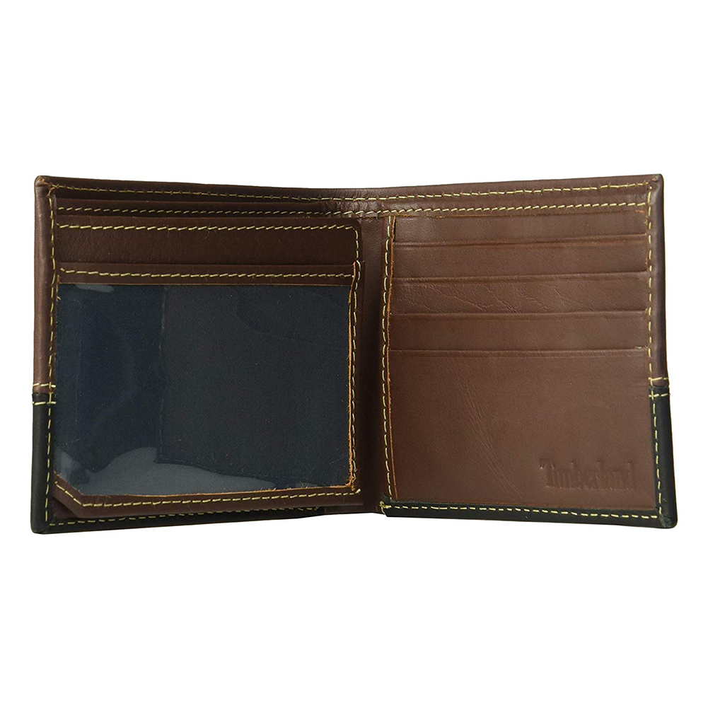 Timberland-Men-039-s-D67001-Leather-Two-Tone-Billfold-Commuter-Wallet thumbnail 4