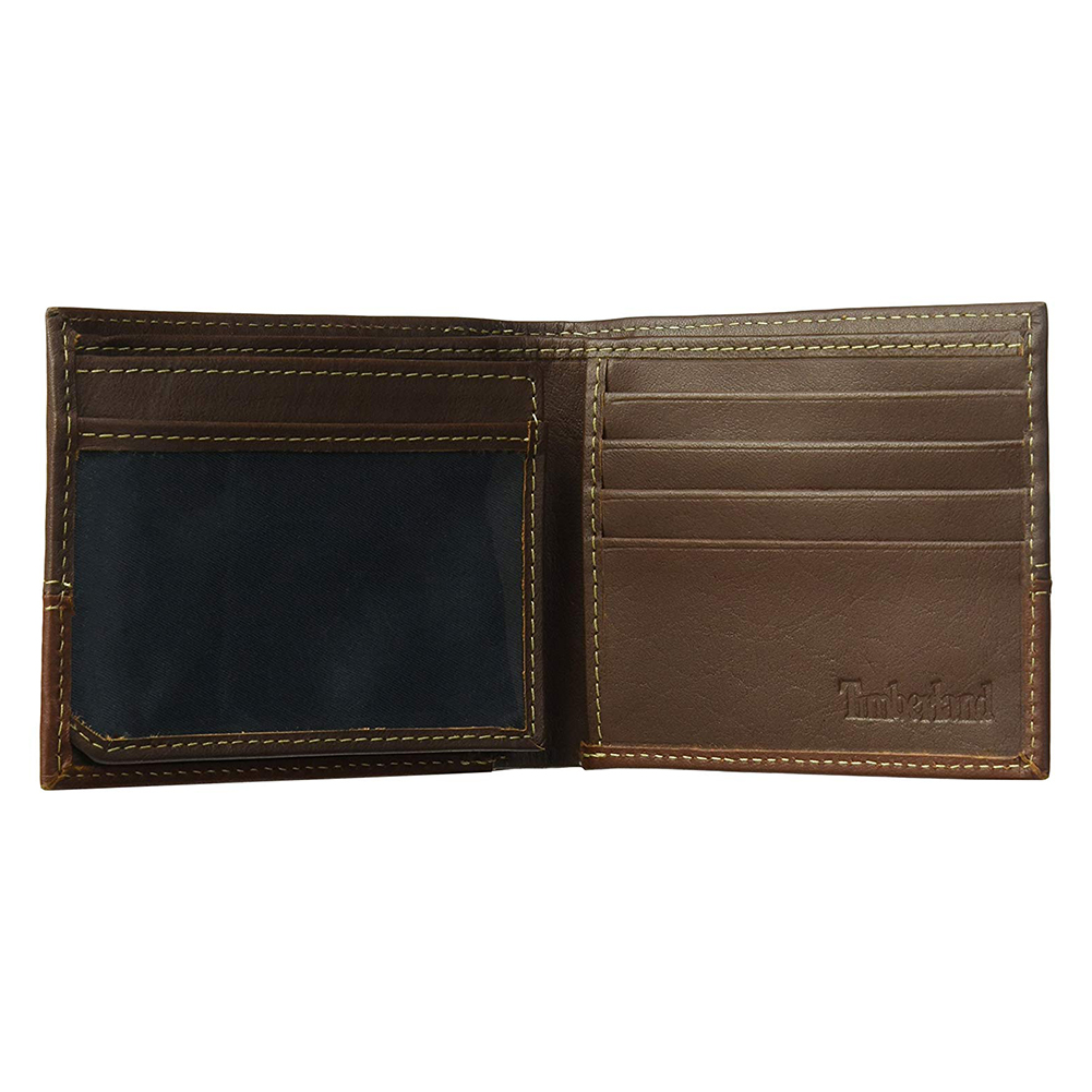 Timberland-Men-039-s-D67001-Leather-Two-Tone-Billfold-Commuter-Wallet thumbnail 10
