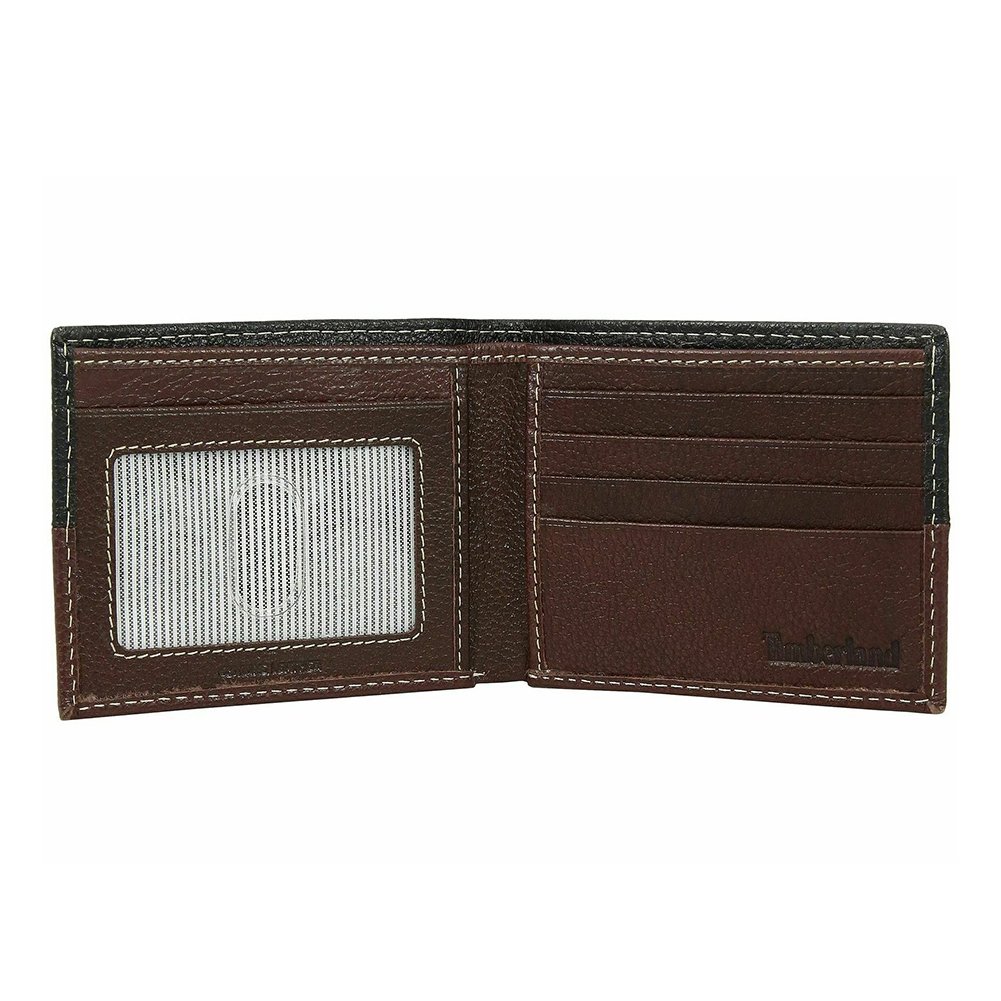 Timberland-Men-039-s-D67001-Leather-Two-Tone-Billfold-Commuter-Wallet thumbnail 7