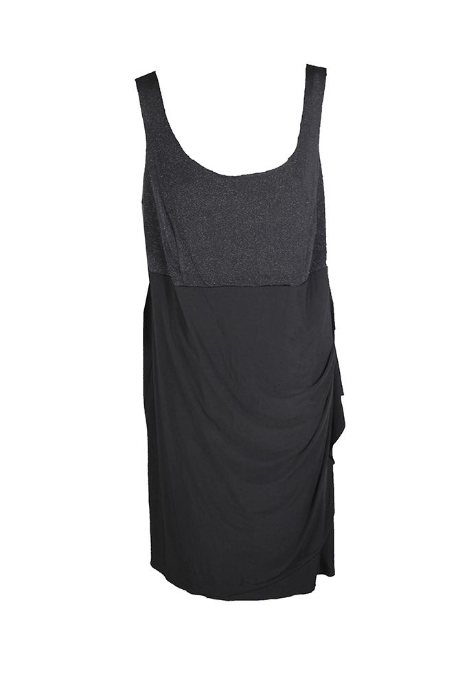 Details about Msk Plus Size Black Glitter Top Dress 18W MSRP: $79