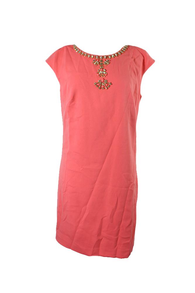 39df661da29b Vince Camuto Coral Collar Embellished Neck Dress 14 MSRP: $168   eBay