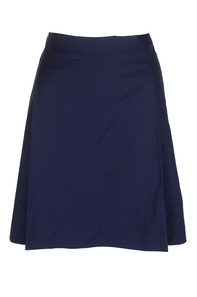Lauren Ralph Lauren Navy Pleated Front Mini Skirt 14