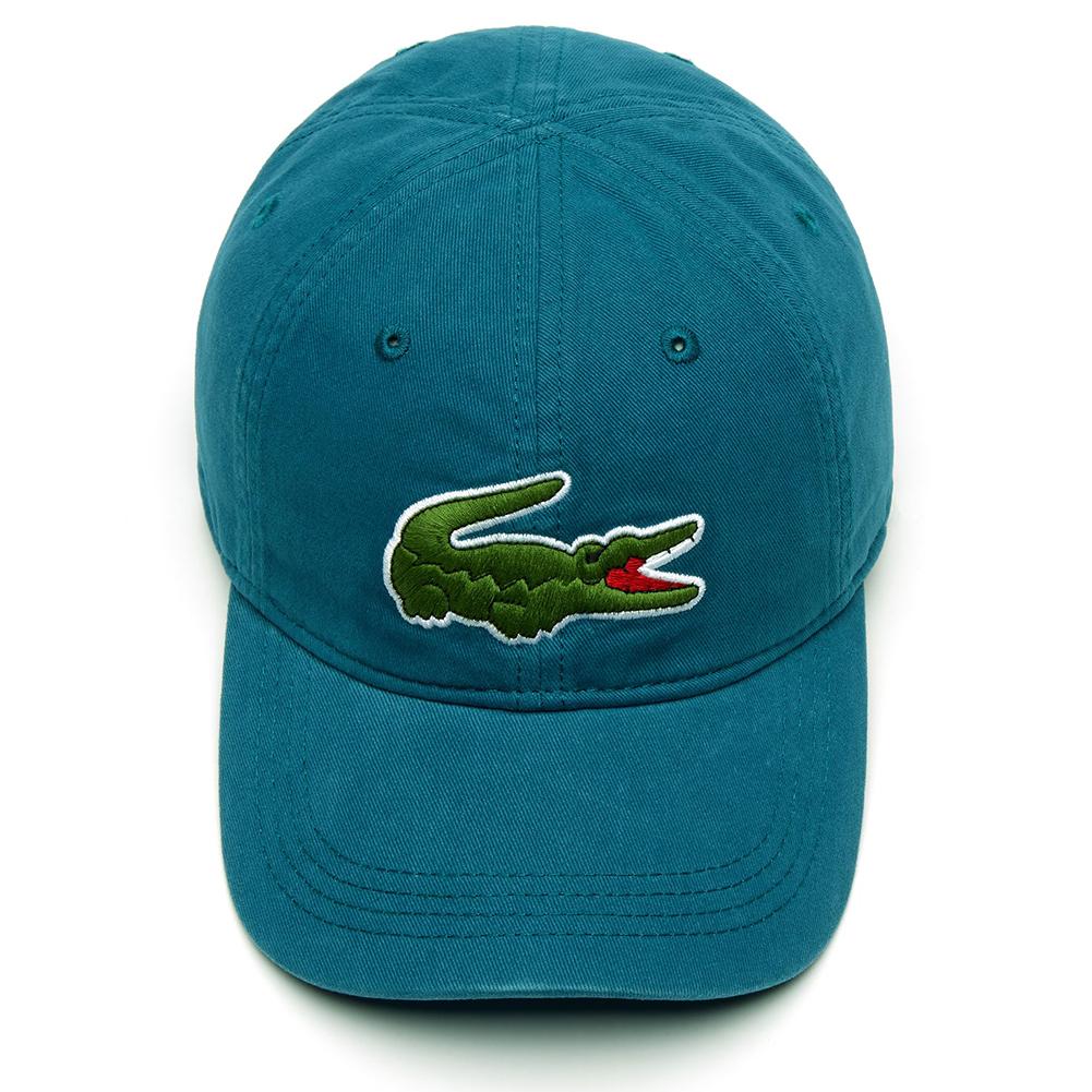 Lacoste-Men-039-s-Cotton-Embroidered-Big-Croc-Logo-Adjustable-Hat-Cap thumbnail 3