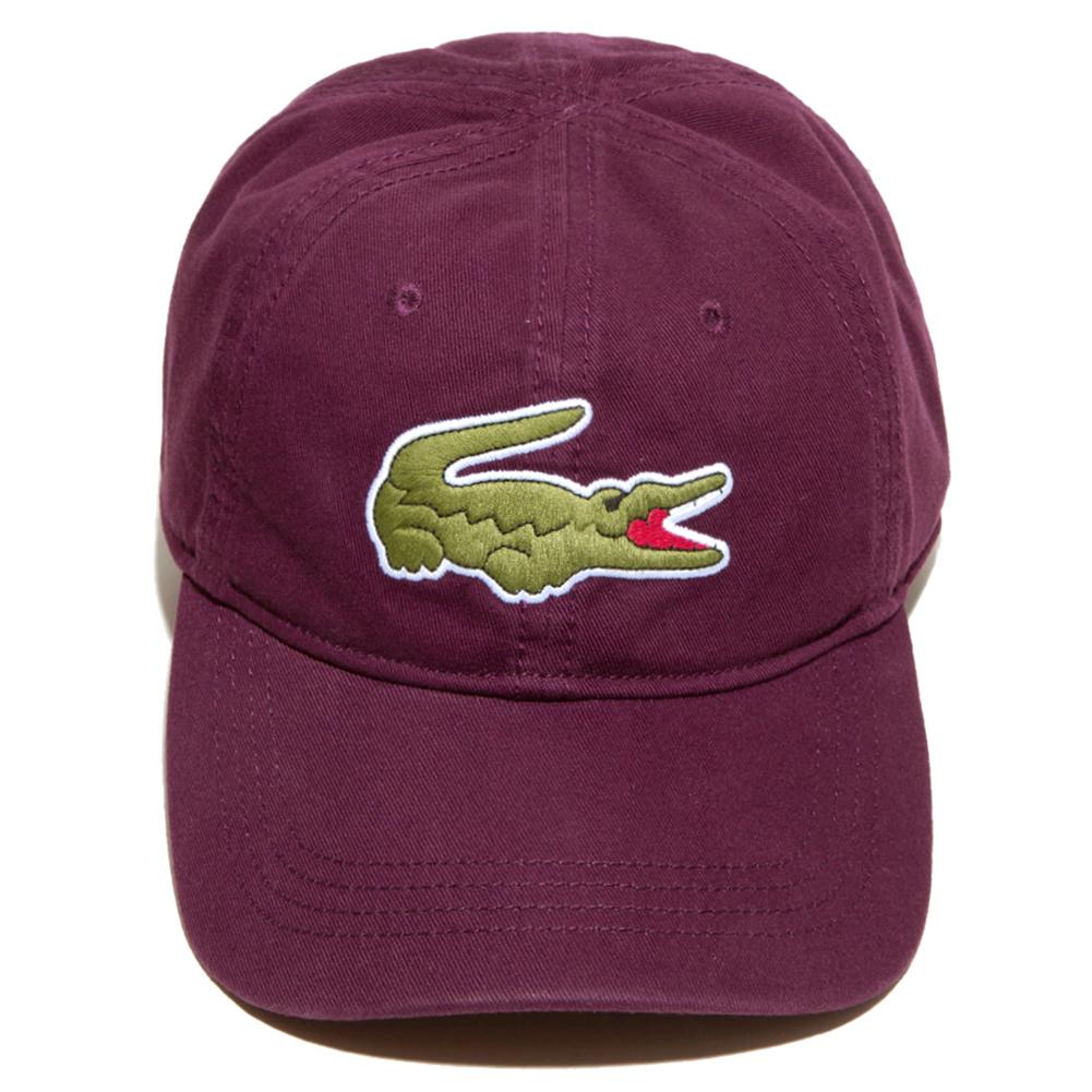 Lacoste-Men-039-s-Cotton-Embroidered-Big-Croc-Logo-Adjustable-Hat-Cap thumbnail 9