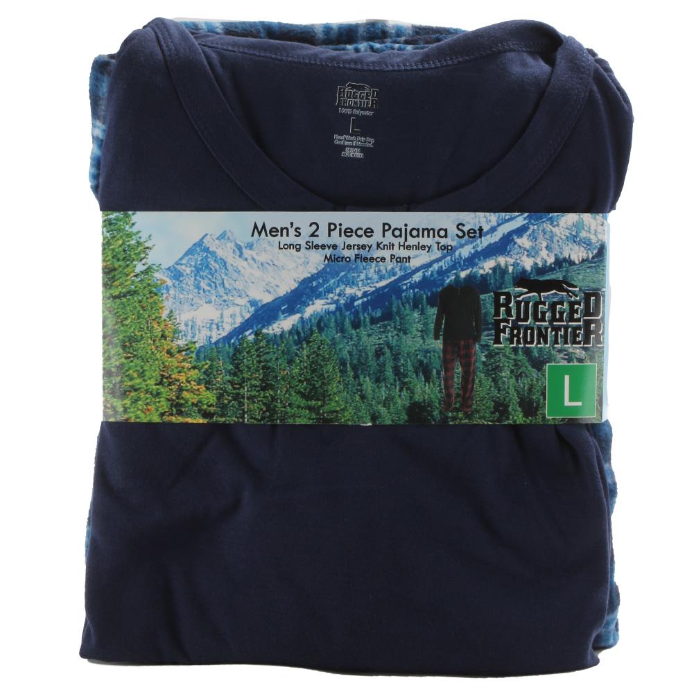 Rugged-Frontier-Men-039-s-Plaid-Fleece-2-Piece-Lounge-Pajama-Set thumbnail 4