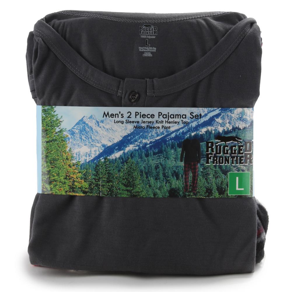 Rugged-Frontier-Men-039-s-Plaid-Fleece-2-Piece-Lounge-Pajama-Set thumbnail 10