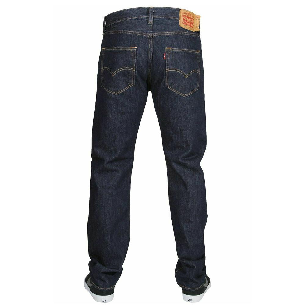 miniature 12 - LEVIS Mens 501 Original Fit Denim Jeans coupe droite braguette à bouton 100% coton