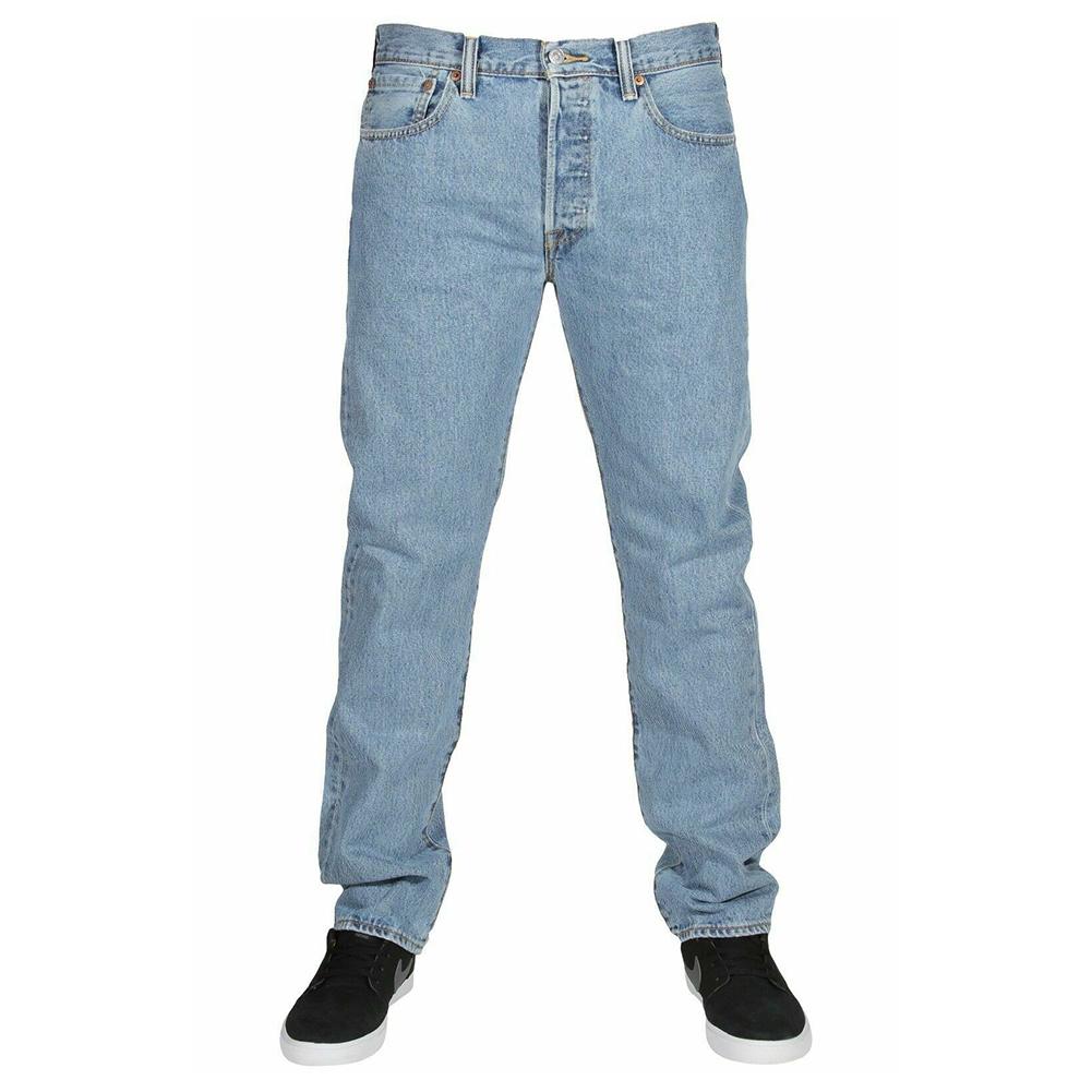 miniature 8 - LEVIS Mens 501 Original Fit Denim Jeans coupe droite braguette à bouton 100% coton