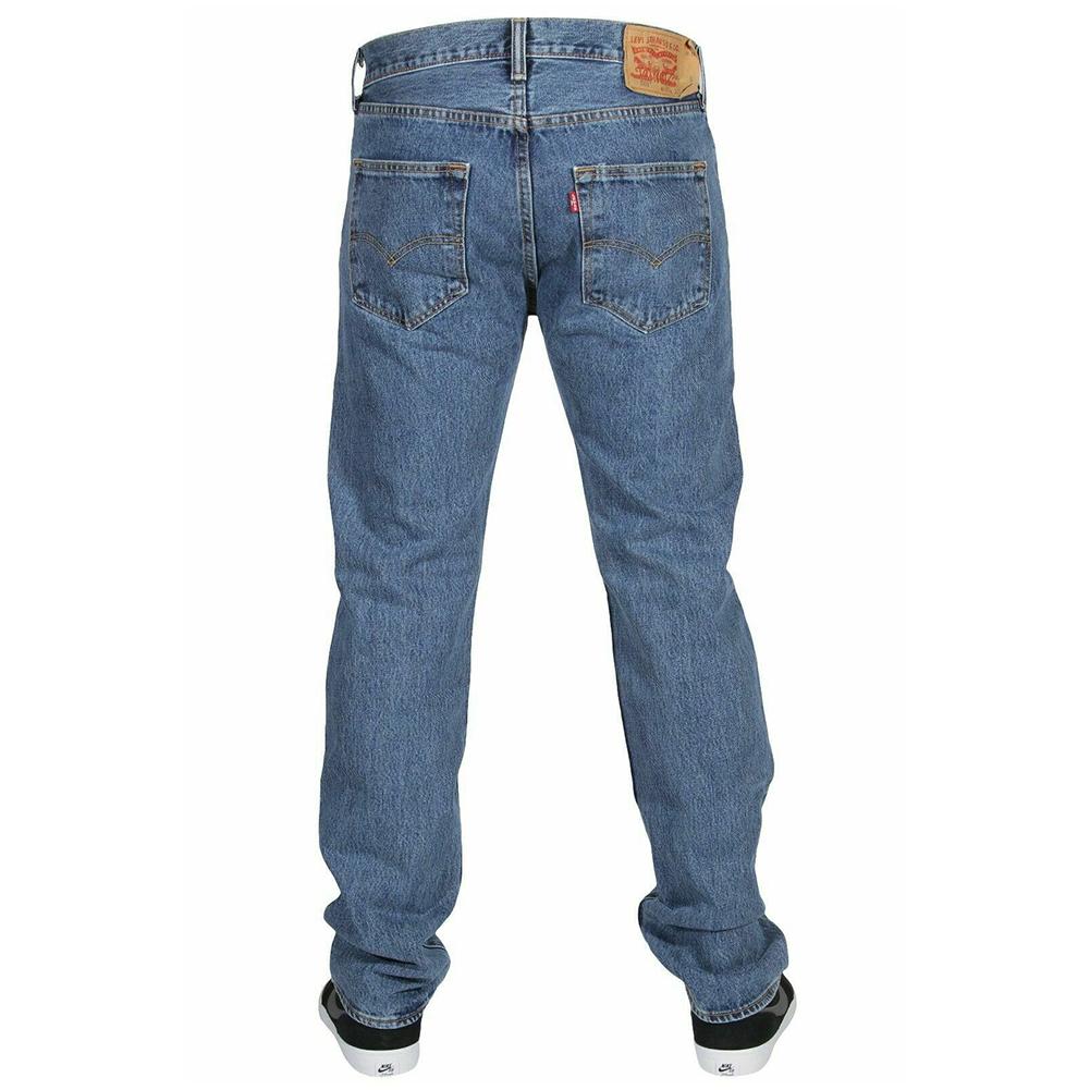 miniature 10 - LEVIS Mens 501 Original Fit Denim Jeans coupe droite braguette à bouton 100% coton