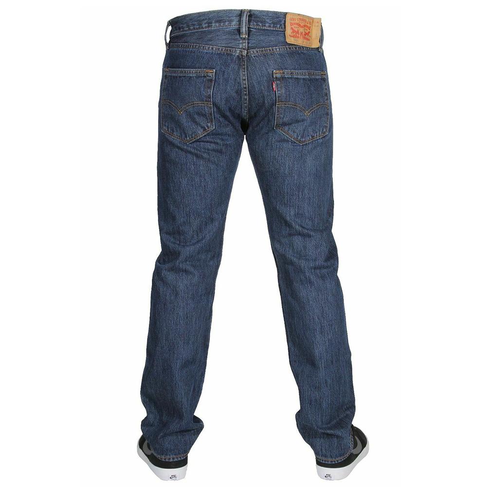 miniature 6 - LEVIS Mens 501 Original Fit Denim Jeans coupe droite braguette à bouton 100% coton