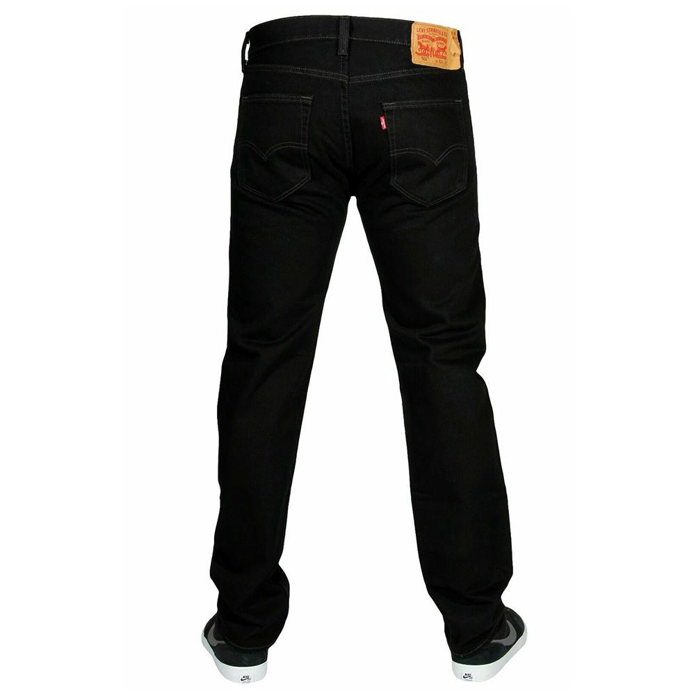 miniature 3 - LEVIS Mens 501 Original Fit Denim Jeans coupe droite braguette à bouton 100% coton