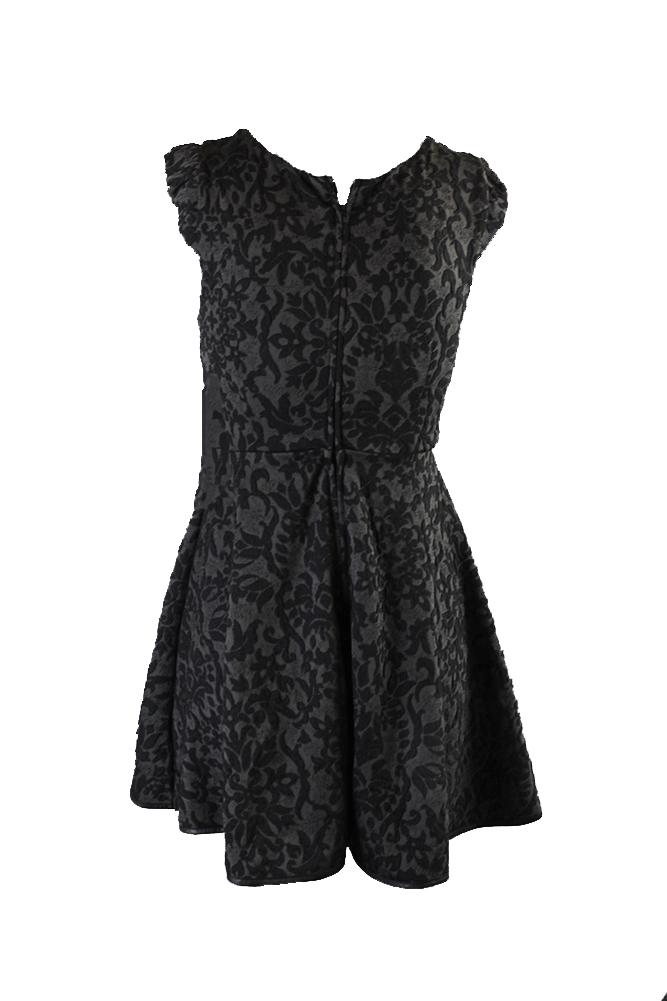 e1be9efe1 Details about Emerald Sundae Juniors Black Texture-Patterned Fit & Flare  Dress 3